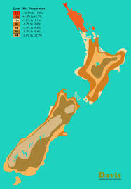 plants native to new zealand new zealand hardiness map landscape architect u0027s pages