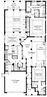 florida house plans with pool plan 33047zr energy saving courtyard house plan guest suite