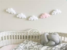 pinjeas 2set cloud garland kid u0027s room wall decoration nursery