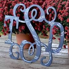 monogrammed guest book wedding guest signature classic vine wood monogram