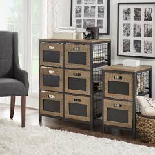 homesullivan mulvey industrial open 6 drawer metal cabinet in