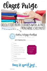 Clean Out Your Closet Closet Purge Decluttering Clothes With Free Printable Konmari
