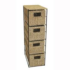 Seagrass Bathroom Storage Jvl 4 Drawer Seagrass Tower With Black Metal Frame Jvl Http Www