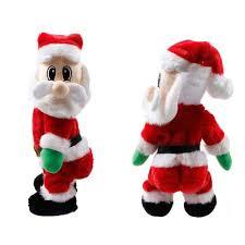 decorations electric musical plush santa claus doll
