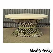 Vintage Table Ls Vintage Mid Century Modern Woodard Spun Fiberglass Outdoor