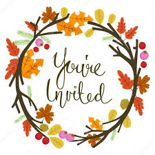 You Are Invited Card Autumn You Are Invited U2014 Stock Vector Chadvivas 92522382
