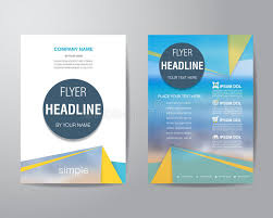 circle layout vector simple triangle and circle brochure flyer design layout template