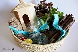 gardening gift basket fairy garden gift basket