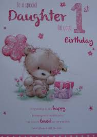 for a special daughter on your 1st birthday card 7805 cg