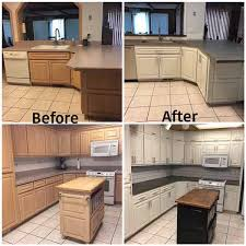 antique white kitchen cabinet refacing modern look for dated cabinetry with added space the