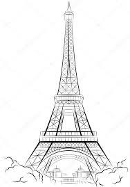 eiffel tower in paris france u2014 stock vector mirumur 6258420