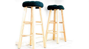 how to make square bar stool covers youtube