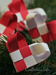 paper craft woven paper ornaments