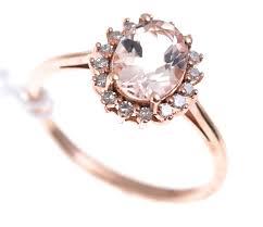morganite engagement ring gold ring gold morganite diamond engagement valuation 10k
