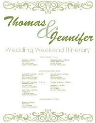 destination wedding itinerary template the 25 best wedding itinerary template ideas on