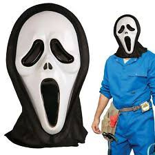 Halloween Costumes Scream Mask Halloween Scream Hooded Mask Scary Movie Ghost Face Fancy Dress