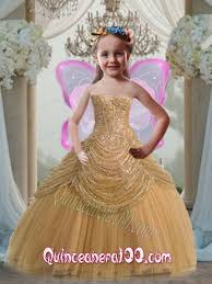 discount ball gown strapless floor length gold little pageant