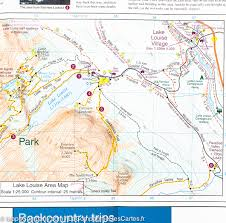 Jasper National Park Canada Map by Map Of Lake Louise Yoho National Park Canada Gem Trek