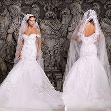 mermaid wedding dresses luxurious mermaid wedding dresses white the shoulder bridal