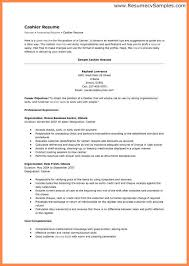 cashier resume sample resume name