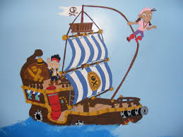 jake the neverland pirates ship with jake on deck and izzy on jake the neverland pirates ship with jake on deck and izzy on the rope in