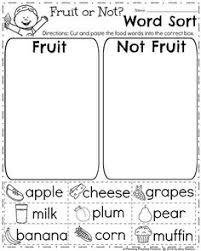 summer kindergarten worksheets kindergarten worksheets food