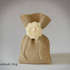 burlap gift bags burlap gift bag with sola flower wedding from teomil on etsy