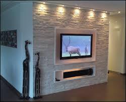 steinwand wohnzimmer montage 2 fernseher wand stein kogbox
