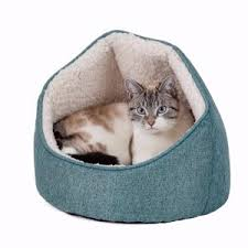 Hooded Dog Bed Pets At Home Linen Look Hooded Cat Bed Teal Pets At Home
