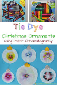 chromatography tie dye christmas ornaments inspiration