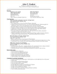 Example Of Resume For College Students With No Experience by Format Sample For Highschool Graduate With No Experience Graduate