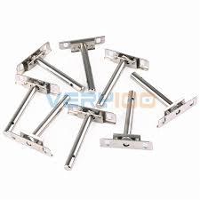 8 pcs hidden shelf support concealed floating metal brackets steel