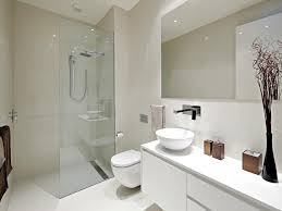 Brilliant Modern White Bathroom Stock Images Throughout Design - White small bathroom designs