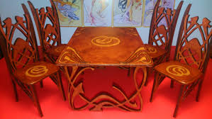 chair comely private sale set of four french art nouveau carved