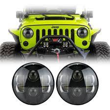 led lights for jeep wrangler 7 jeep wrangler bb led headlights for jk tj lj cj ralu led
