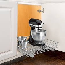 lynk chrome pull out cabinet drawers amazon com lynk professional roll out cabinet organizer pull out