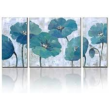 Amazon cubism floral paintings on canvas 3 Panels Modern