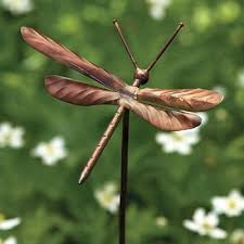 dragonfly garden stake ornament set of 4
