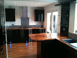 interior and exterior kitchen beautiful black gloss kitchen