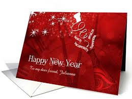 custom new year cards for friend custom new year chagne in and white card holidays