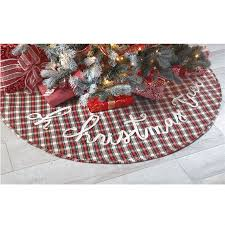 plaid tree skirt white tartan plaid christmas tree skirt mud pie
