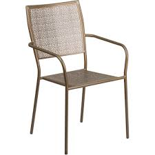 Indoor Outdoor Furniture by Gold Indoor Outdoor Steel Patio Arm Chair With Square Back At