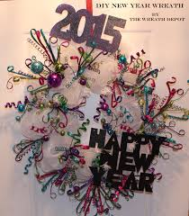 diy deco mesh wreath tutorial u201chappy new year u201d the wreath depot