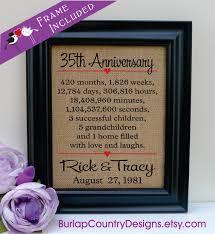 35 hochzeitstag geschenk framed 35th anniversary 35th wedding anniversary gift 35th coral