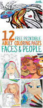 12 free printable faces coloring pages