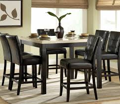 dining room table black black 7 piece dining room set alliancemv com