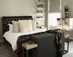 Black Leather Sleigh Bed 20 Bedroom Spaces With Black Leather Beds Home Design Lover