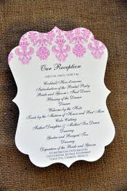 program for wedding reception wedding reception itinerary great idea materialwitness co