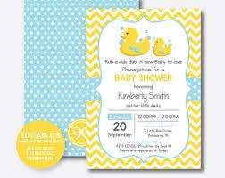 duck baby shower invitations duck baby shower etsy
