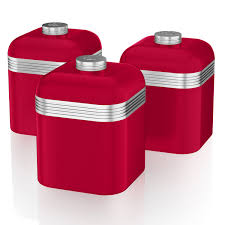 red glass canister set tags contemporary kitchen canisters